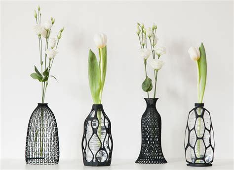 3d printed vases turn plastic bottles into decorative objects