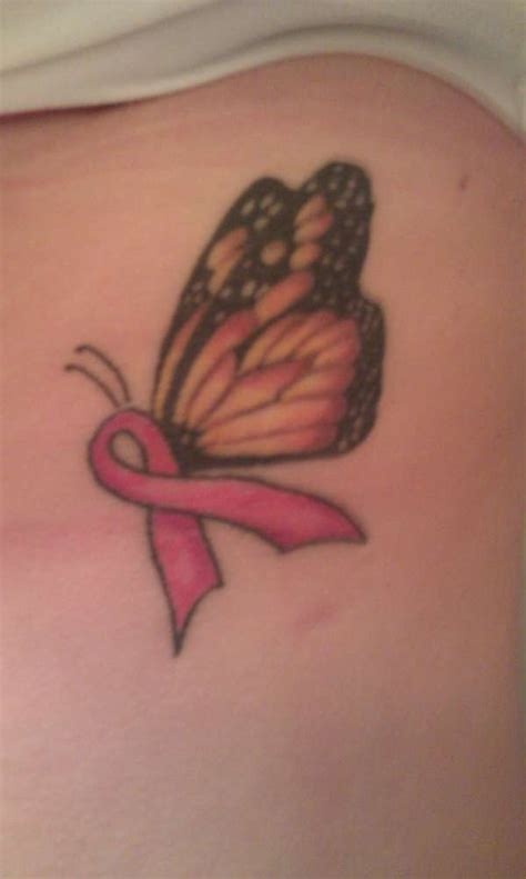 butterfly tattoo under breast breast cancer awareness butterfly tattoo
