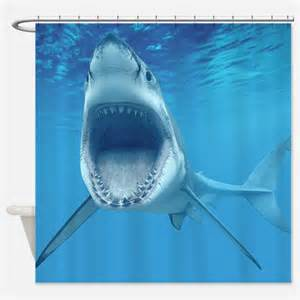 Shark shower curtains shark fabric shower curtain liner