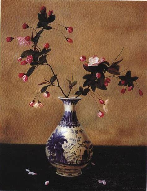 flowers in a vase painting ji painting reproduction