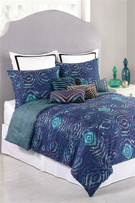 nanette lepore bedding nanette lepore skin king comforter set blue purple