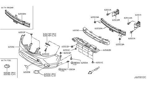 nissan rogue parts diagram 2017 nissan rogue sport front bumper nissan parts deal