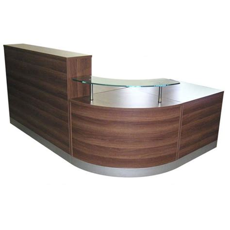 Curved Reception Desk Curved Modular Reception Desk In A Choice Of Finish Glass Desk For Reception Reception
