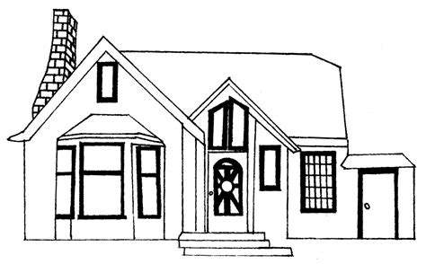 drawings of houses house line drawings clipart best