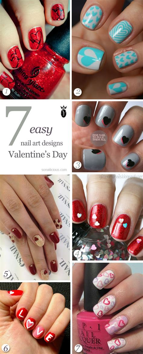 simple valentines day nails s day nails 7 easy nail designs