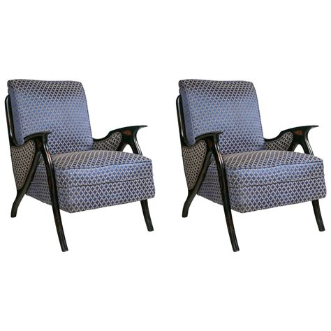upholstered armchairs for sale pair of mid century modern newly upholstered armchairs for