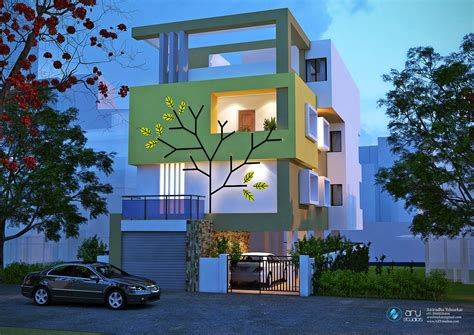 3d apartment building elevation done by ary studios arystudios 3d building elevation render in vray arystudios