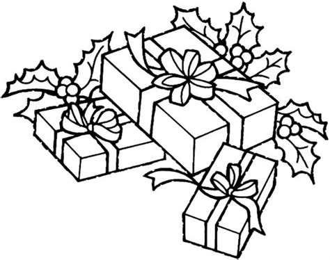 Christmas Tree With Presents Drawing Designcorner Tree Coloring Pages With Presents