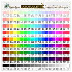 color guide swatch 171 colors hex codes spoonflower