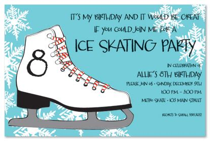 Ice Skating Party Invitations Theruntime Com Skating Invitation Template Free