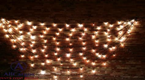 String Lights Wall - allcargos tent event rentals inc gladstone hotel venue
