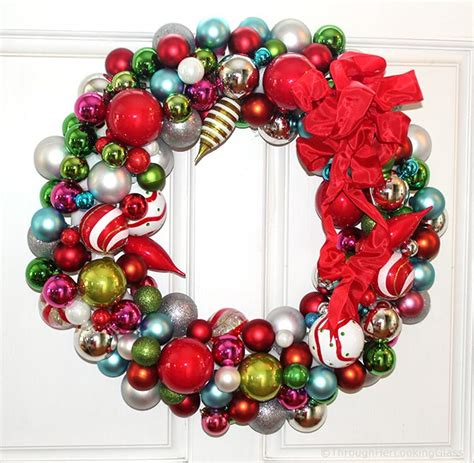 christmas garlandballs willy wonka wreath through looking glass