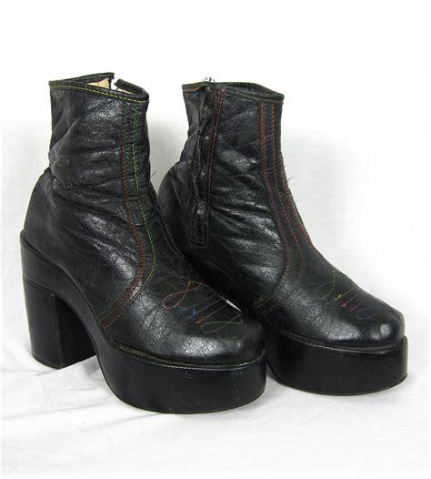 mens platform boots vintage 1970s s platform boots