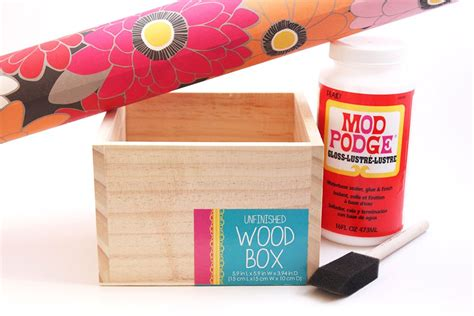 How To Decoupage On Wood - decoupage wood box thesassylife