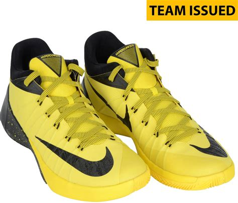 yellow nike basketball shoes of oregon ducks team issued black and yellow