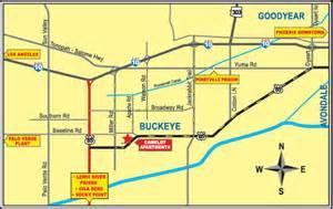 map of buckeye arizona location
