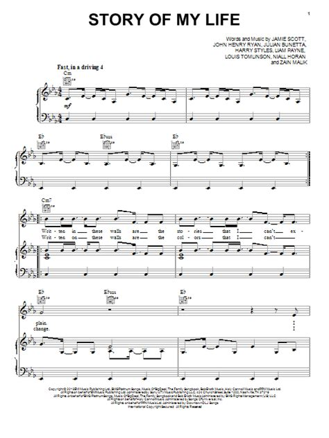 my note my blog my story story of my life sheet music direct