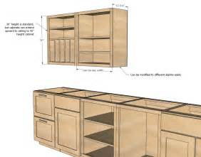 Kitchen Cabinet Plan White Wall Kitchen Cabinet Basic Carcass Plan Diy Projects