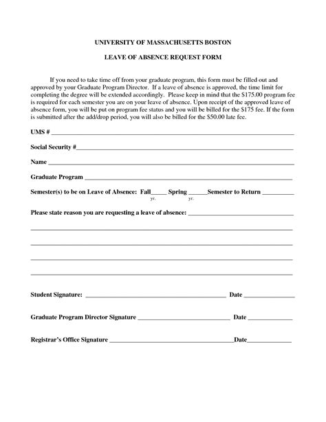 employee absence form template best photos of absence request form template leave of