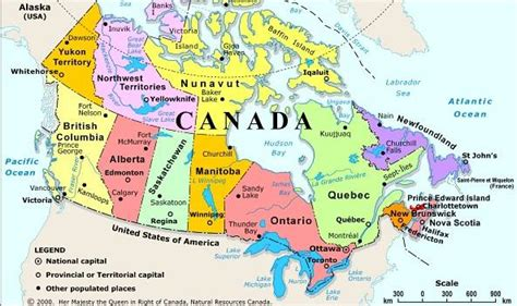 map of canada and usa with cities obryadii00 political map of canada with cities