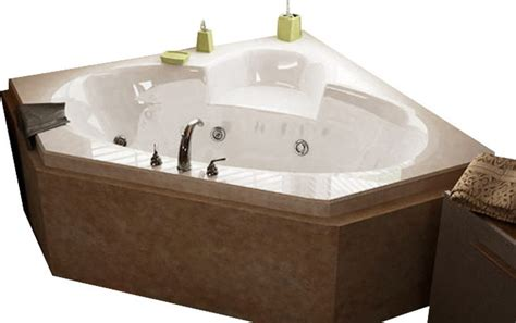 jetted corner bathtub atlantis tubs 6060swl sublime 60x60x23 inch corner whirlpool jetted bathtub
