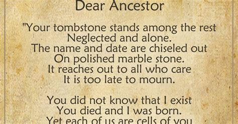 Wonderful Fun Facts About Christmas For Kids #9: Dear+ancestor+poem+-+teach+me+genealogy.jpg