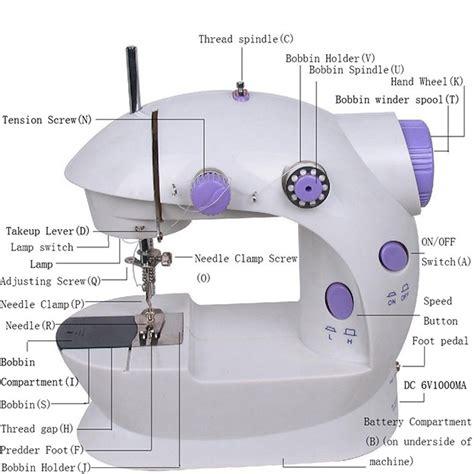 Mini Sewing Machine Sm 202a by Mini Sewing Machine 4in1 Portable Sm 202a Mesin Jahit