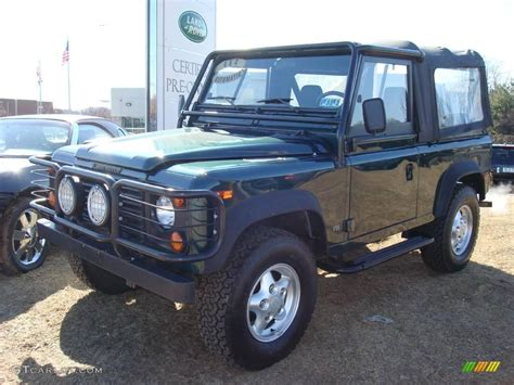 racing land rover 1997 racing green metallic land rover defender 90
