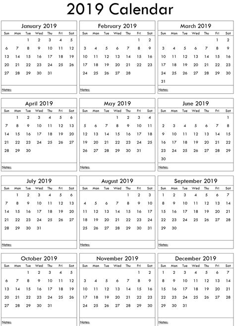 yearly calendar  word  printable  calendar template word