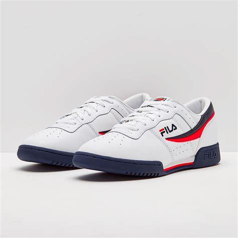 mens shoes fila original fitness white flt