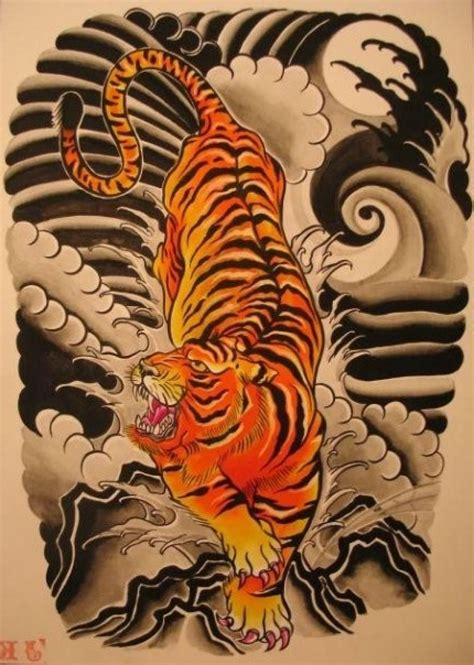 asian tiger tattoo designs japanese tiger flash