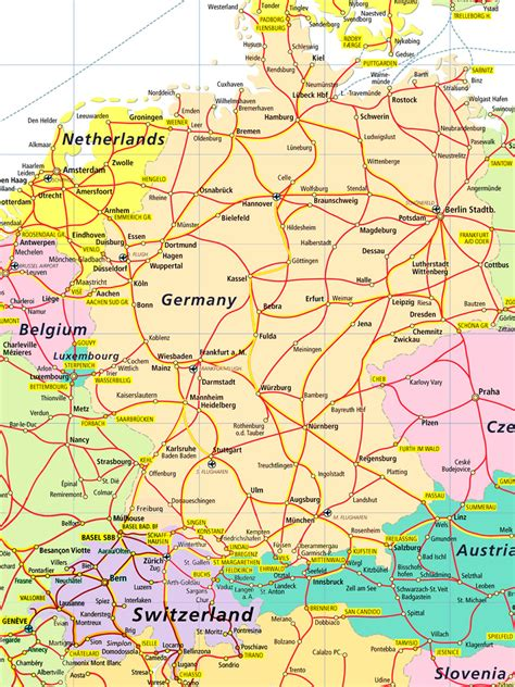 map of switzerland and germany with cities germany switzerland and quotes quotesgram