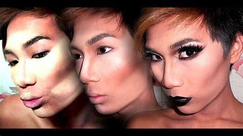 drag foundation contour highlight makeup tutorial