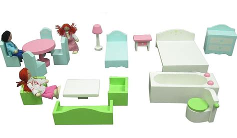 wooden dolls house furniture sets george home wooden dolls house furniture set kids george at asda