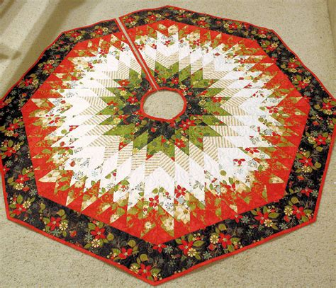 christmas tree skirt quilt jovial diamonds 57 inches