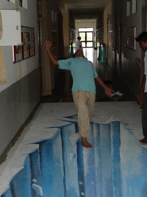 3d Floor Paintings by 3d Painting India An 3d On Floor Of A School