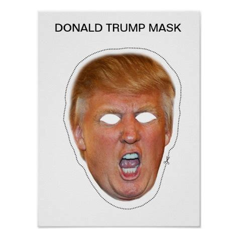 Donald Trump Mask Poster   Zazzle