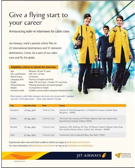 jet airways cabin crew recruitment cabin crew india aviation timesascent