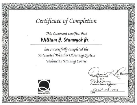class completion certificate template best photos of completion template course