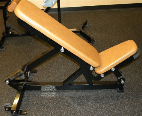 hammer strength adjustable bench midwest used fitness equipment hammer strength multi