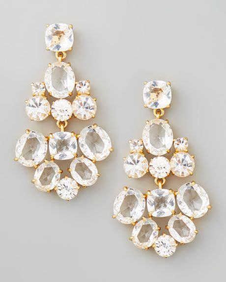 Kate Spade Chandelier Earrings Kate Spade Chandelier Earrings Clear In White Clear Lyst