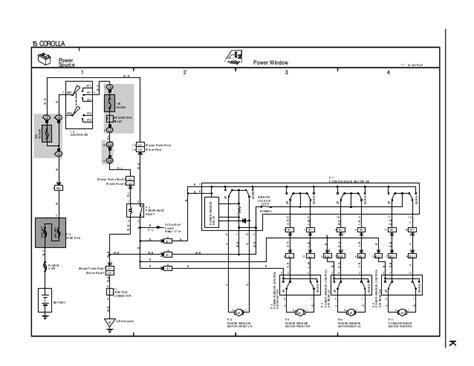 power window wiring diagram toyota corolla gallery