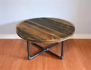 Posts diy pallet round coffee table pallet wood and steel coffee table