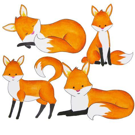 fox clipart fox clip image black and white