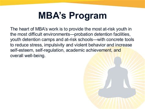 Oakland Mba Program by The Mind Awareness Project Presentation
