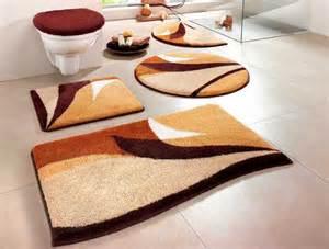 badezimmer matten 2 tlg set badgarnitur 50 x 55 braun beige badteppich matte