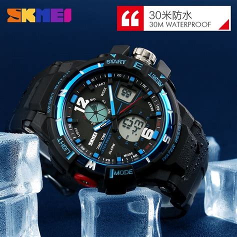 Promo Jam Tangan Skmei Sporty Led Pria Anti Air Murah skmei jam tangan sporty digital analog pria ad1148