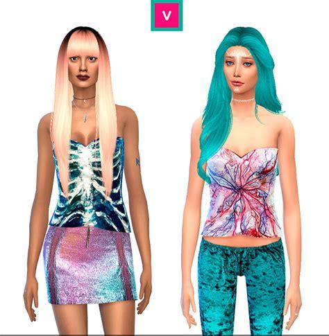 Crisp Feminine Top 4 by Ribs Circulatory System Top At Verismaya 187 Sims 4