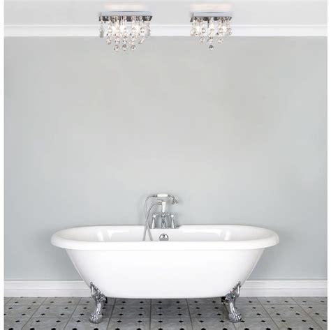 crystal bathroom ceiling light orlando 5 light bathroom square flush ceiling light chrome