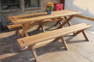 free picnic table plans with separate benches plans diy free download cabinet designs for garage